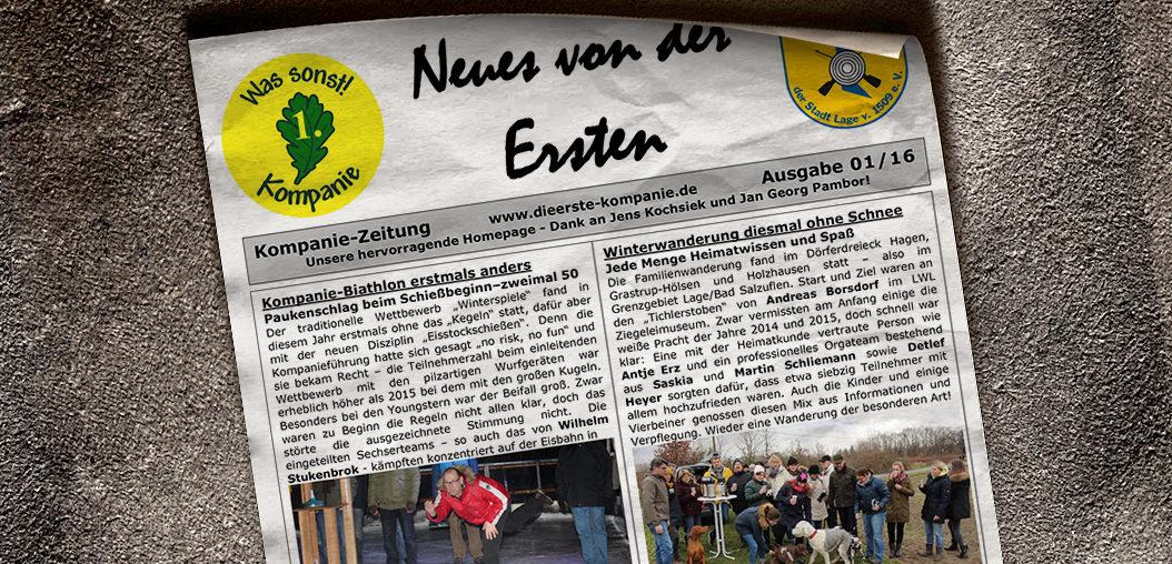 Kompaniezeitung Ausgabe 1/16
