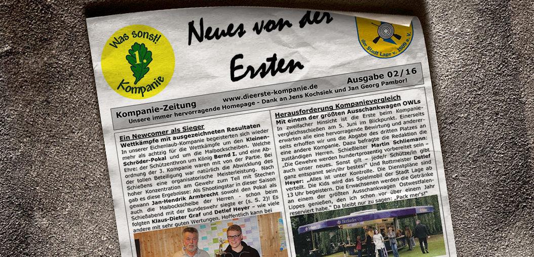 Kompaniezeitung Ausgabe 2/16