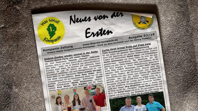 Kompaniezeitung Ausgabe 3/16