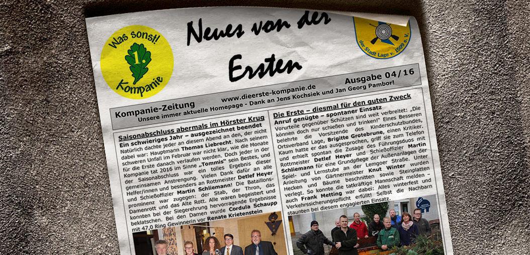Kompaniezeitung Ausgabe 4/16