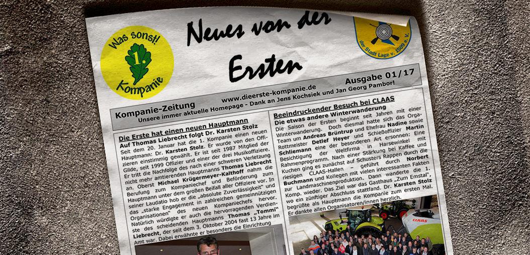 Kompaniezeitung Ausgabe 1/17