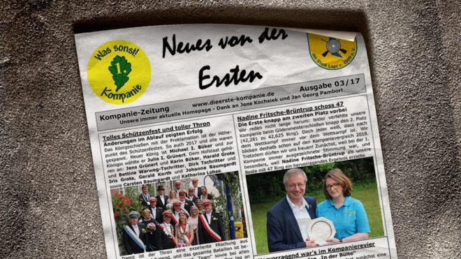 Kompaniezeitung Ausgabe 3/17