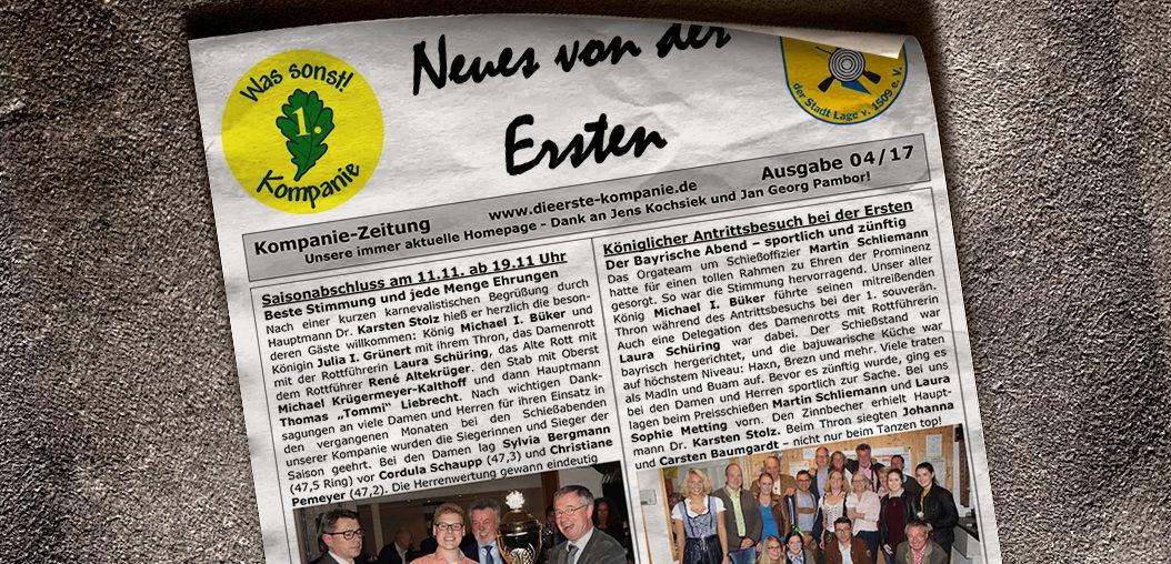 Kompaniezeitung Ausgabe 4/17
