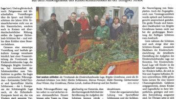 Pressebericht Kinderschutzbund Lage (LZ)