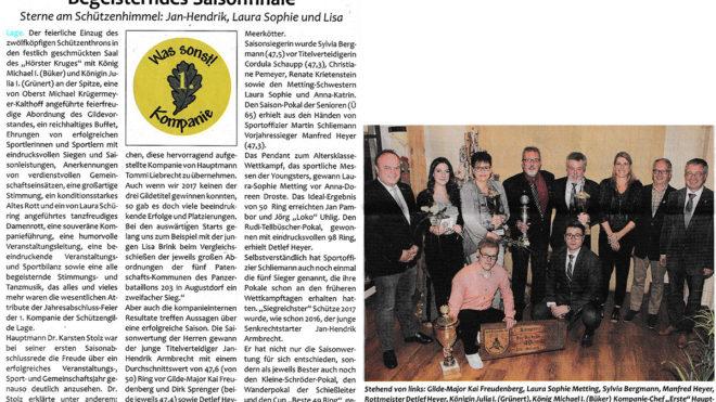 Pressebericht Saisonabschluss 2017 (Postillon)