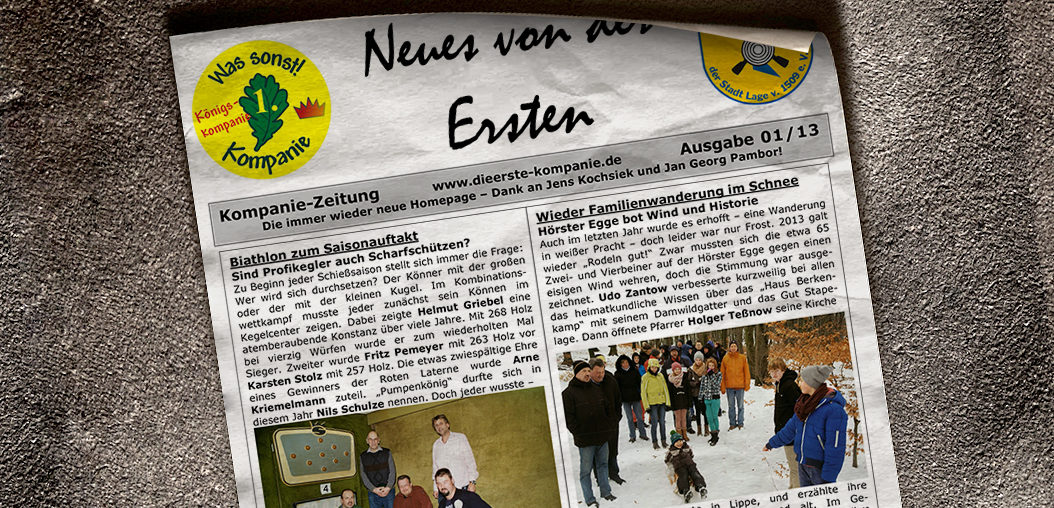 Kompaniezeitung Ausgabe 1/13