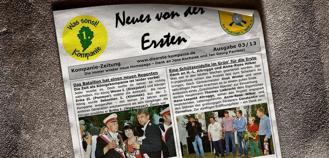 Kompaniezeitung Ausgabe 3/13