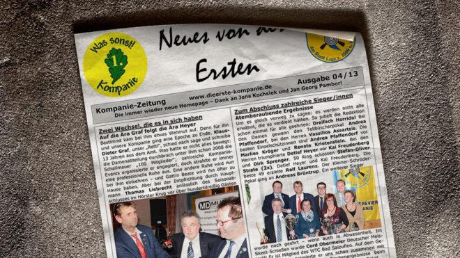 Kompaniezeitung Ausgabe 4/13