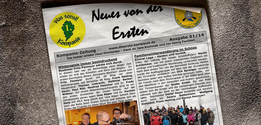 Kompaniezeitung Ausgabe 1/14