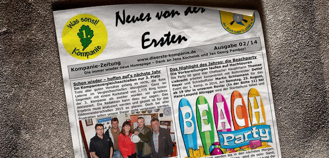 Kompaniezeitung Ausgabe 2/14