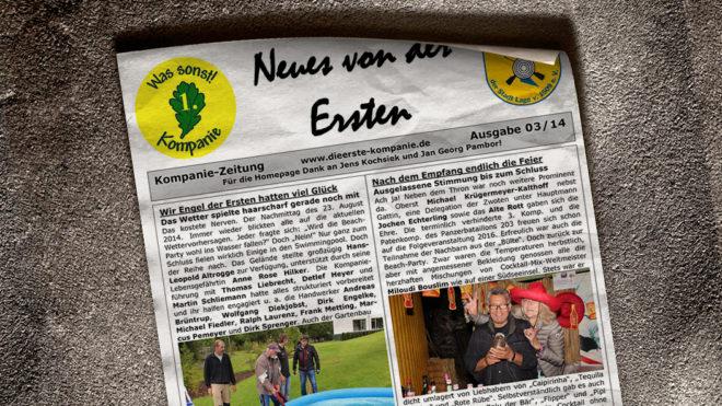 Kompaniezeitung Ausgabe 3/14
