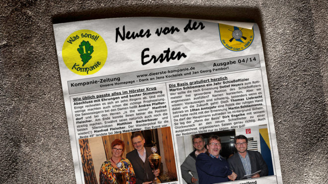 Kompaniezeitung Ausgabe 4/14