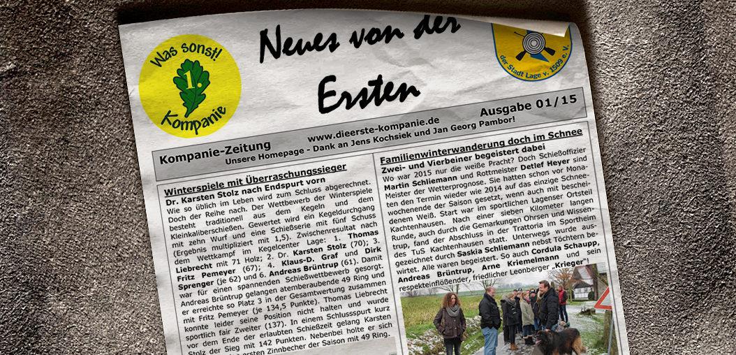 Kompaniezeitung Ausgabe 1/15