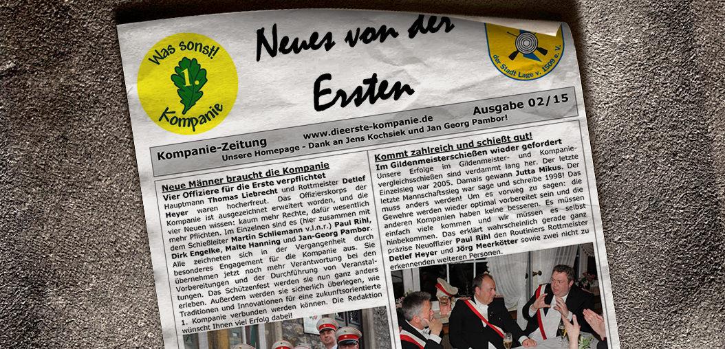Kompaniezeitung Ausgabe 2/15