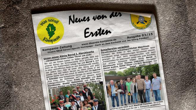 Kompaniezeitung Ausgabe 3/15