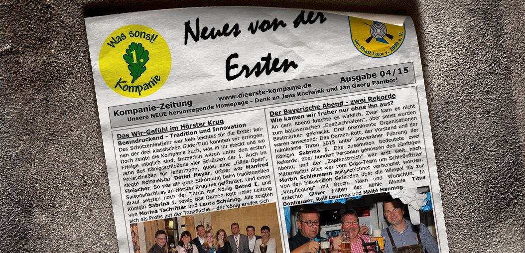 Kompaniezeitung Ausgabe 4/15