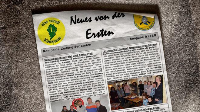 Kompaniezeitung Ausgabe 1/18