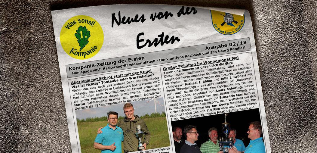 Kompaniezeitung Ausgabe 2/18