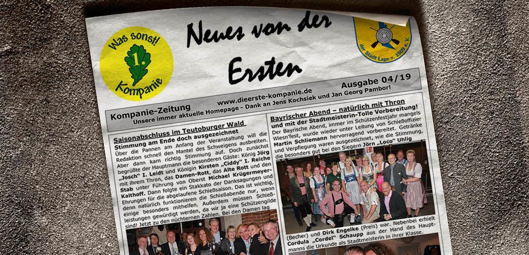 Kompaniezeitung Ausgabe 4/19