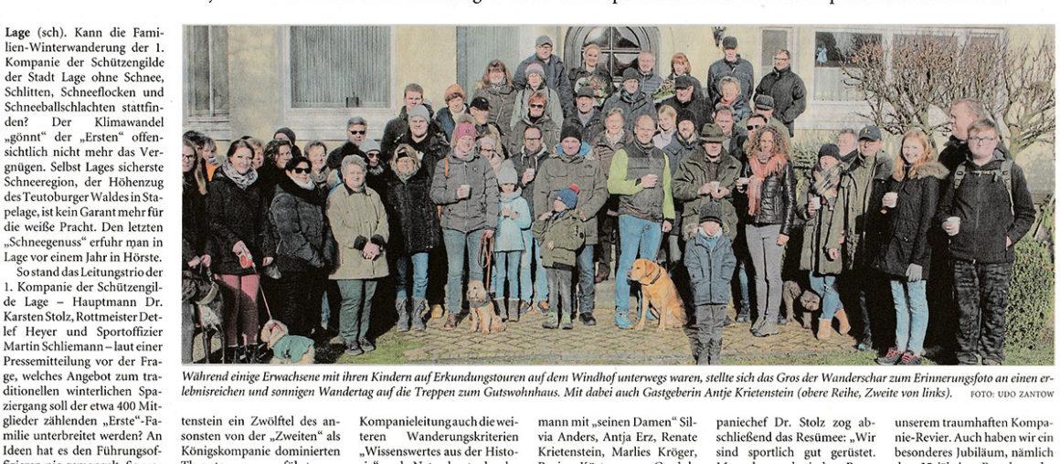 Pressebericht LZ Winterwanderung 2020